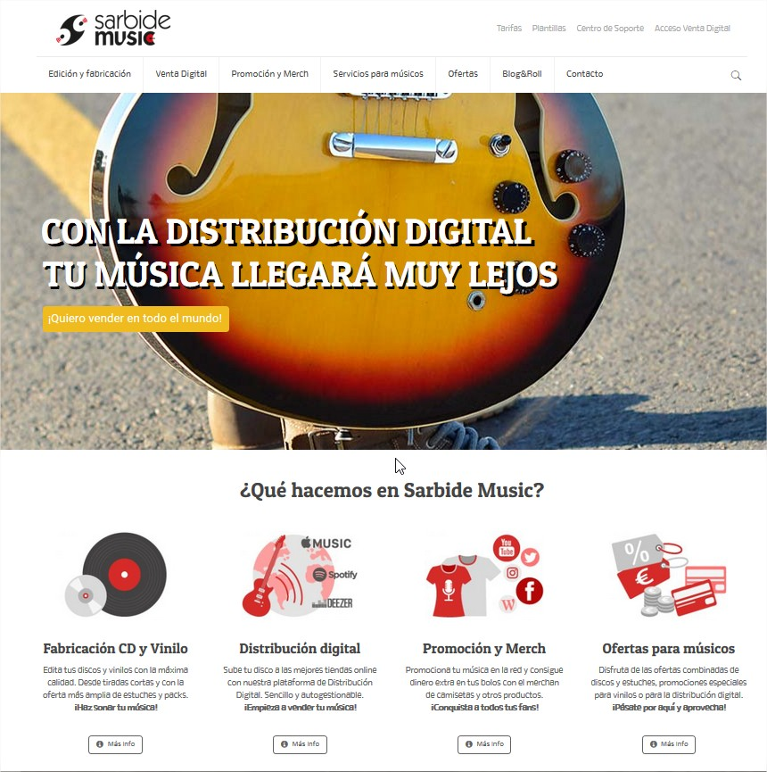 Nueva web sarbide music